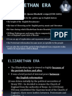Elizabethan Era