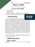 What is Lidar