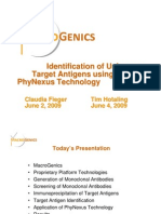 Macrogenics-Identification of UnknownTarget Antigens Using Phynexus Technology-8099
