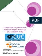 Comparaison des performances de deux méthodes d'encodage pour un CODEC H.264