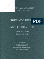 DODD, Gordon • THEMATIC INDEX OF MUSIC FOR VIOLS (Viola da Gamba Society, 2011)