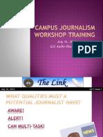 Campus Journalism - Newspaper Style
