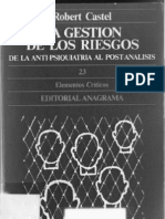 Castel, R. - La gestión de los riesgos. De la anti-psiquiatría al post-análisis [1981] [ed. Anagrama, 1984]