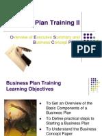 Business Plan Training