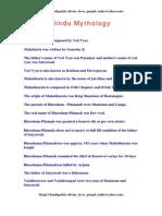 Hindu Mythology 1 Page