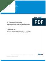 Candidate Dashboard WASA Report July 2012