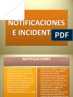 Notificaciones e Incidentes