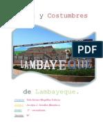 Mitos y Costumbres de Lambayeque.