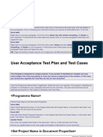 Business Analysis Template-UAT Plan and Test Cases