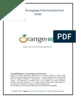 OrangeHRM Language Pack Creation ESPAÑOL