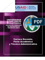Propuesta carrera docente EFPEM USAC - sept-2011