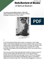 The Making of Samuel Beckett by Coetzee
