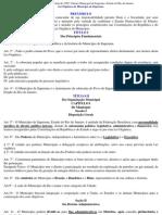 Lei Orgânica Municipal de Itaperuna de 05 de abril de 1990