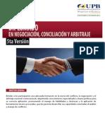Diplomado en Negociación, Conciliación y Arbitraje