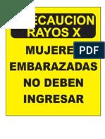 Señalizacion rayos x