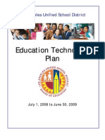 LAUSD Documents - LAUSD Technology Plan  2006 - 2009