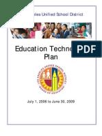 LAUSD Documents - LAUSD Technology Plan  2006 - 2009