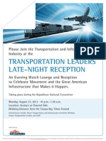 Transportation Leaders Late-Night Reception -- Republican Convention