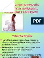 Actuacion en Embarazo Puerperio y Lactancia