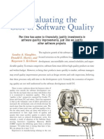 Evaluating the Cost of Software Quality