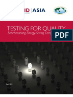 USAID/Asia, Testing for Quality, Benchmarking Energy Saving Lamps, 4-2010