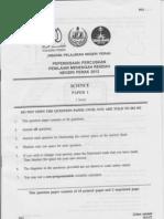 Science 1 (Perak's PMR Trial 2012)