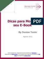 Dicas Para Montar Seu E-Book by Denise Tonin