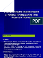 National Forest Planning (Nfp) Process in Indonesia