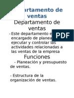 Departamento Ventas