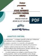 model refrence adaptive control presentation by rishi