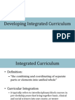 Integration of Curriculum