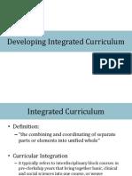 Integration of Curriculum