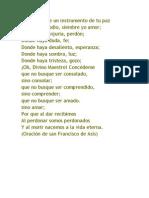 Oración de Francisco De Asis