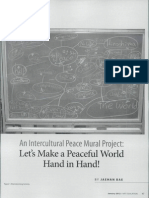an Intercultural Peace Mural Project- Let's Make a Peaceful World Hand in Hand!