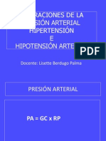 ALTERACIONES DE LA PRESIÓN ARTERIAL DRA. BERDUGO