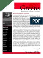 Rutgers Golf Course Turf Management Program – 2012 Alumni Newsletter