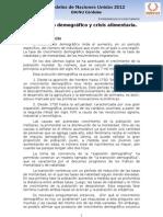 AG 2 Crecimiento demográfico y crisis alimentaria