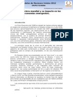 AG 2 Crisis financiera mundial y su impacto en las economías emergentes