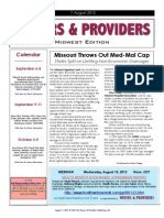 Payers & Providers Midwest Edition – Issue of August 7, 2012