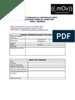 Application Form 2012