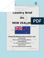 Tdap Report on New Zealand