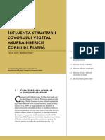 Corbi de Piatra - Studiu Interdisciplinar - Influenţa structurii covorului vegetal asupra bisericii Corbii de Piatră (Cap. 3)