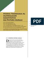Corbi de Piatra - Studiu Interdisciplinar - Studiul Tehnologic Al Materialelor Constitutive Ale Picturii Murale (Cap. 4)