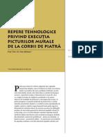 Corbi de Piatra - Studiu Interdisciplinar - Repere tehnologice privind executia picturilor murale de la Corbii de Piatra (Cap. 5)