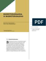 Corbi de Piatra - Studiu Interdisciplinar - Biodeteriorarea si biodeteriogenii (Cap. 7)