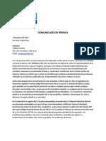 Comunicado de Prensa en Espanol Demanda Organizacional Copy