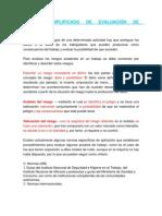 Metodo Simplificado de Evaluacion de Riesgos