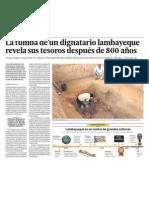 Arqueologia tumba y tesoros en Lambayeque