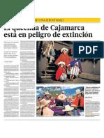 Quechua en extincion en Cajamarca
