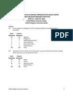 Reproductive Survey Topline
